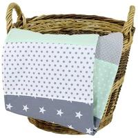 ULLENBOOM BD-70100-MG Bettdecke für Babys Grün, Grau Weiß Junge/Mädchen