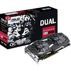 Asus Grafikkarte AMD Radeon RX 580 Dual Overclocked 8GB GDDR5-RAM PCIe x16 HDMI®, DVI, DisplayPort