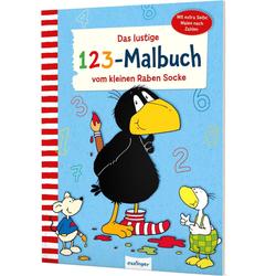 Der kleine Rabe Socke: Das lustige 1 2 3 - Malbuch vom kleinen Raben Socke als Buch von