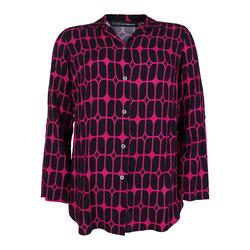 Bluse mit Allover-Print Doris Streich pink