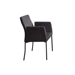 Mondo Armlehnenstuhl 3028 in schwarz, mit schwarzen Füßen aus Metall