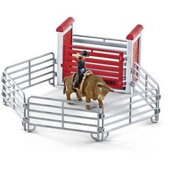 Schleich Farm World Bull riding mit Cowboy 41419