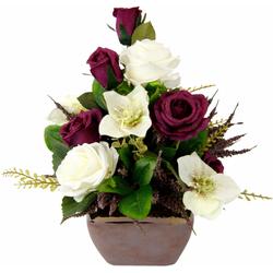 Kunstpflanze Rosen/Christrosen, I.GE.A., Höhe 30 cm