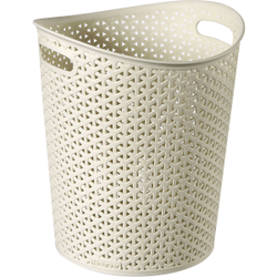 CURVER MY STYLE Papierkorb, Papiertonne aus Kunststoff, Farbe: creme