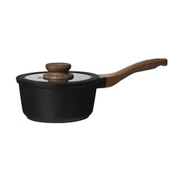 DUKA Stieltopf mit Deckel Schwarz 1,4 L