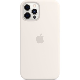 Apple iPhone 12 | 12 Pro Silikon Case mit MagSafe weiß