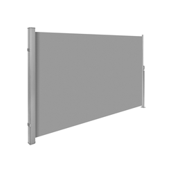tectake Seitenarmmarkise Aluminium Seitenmarkise grau 160.0 cm