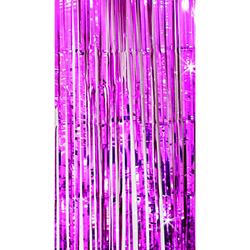 Lametta Vorhang Dekoration Party Feier Fasching Karneval - pink