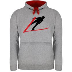 Shirtracer Hoodie Skispringer Skispringen - Wintersport - Unisex Damen & Herren Kontrast Hoodie M