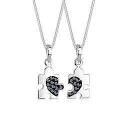 Elli Ketten-Set Set Partner Puzzle Kristalle 925 Silber