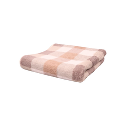 Cawö Handtuch Karo in beige, 50 x 100 cm