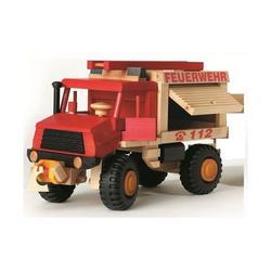 ERST-HOLZ Spielzeug-Auto 928-0026, uniwood Feuerwehr Lkw nachhaltiges Holzspielzeug 928 0026