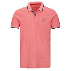 BASEFIELD Poloshirt ORGANIC COTTON mit Logo-Print auf der Brust rot XXL