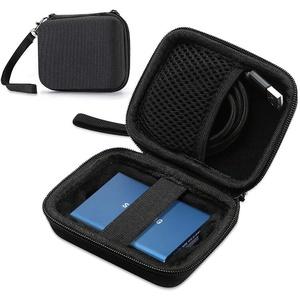 ProCase Samsung T3 T5 Tragbar Hülle, Kompakt Harte Schale Eva Stoßfest Lagerung Reise Veranstalter für Samsung T5 / T3 / T1 Tragbar 250GB 500GB 1TB 2TB SSD USB 3.0 Externe Solid State Drives –Schwarz