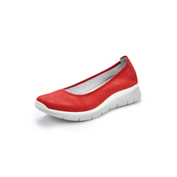 Avena Damen Ballerinas Rot einfarbig 36, 37, 38, 39, 40, 41, 42