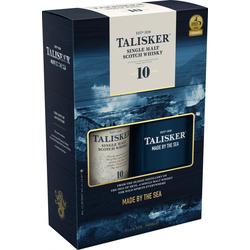 Talisker Single Malt Whisky 10 Jahre 45.8% vol. mit Flachmann