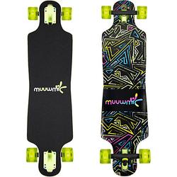 Longboard ABEC 7 Neon mit Leuchtrollen mehrfarbig