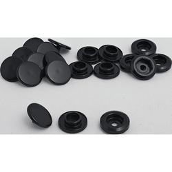 POLO Plastik Futterknöpfe, 2er Set schwarz Unisex