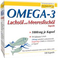 Burton Feingold Omega-3 Lachsöl und Meeresfischöl Kapseln 100 St.
