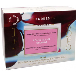 Korres Pomegranate Cleasing Wipes 50 St.