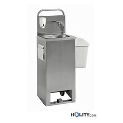 Mobiles Handwaschbecken aus Edelstahl h462_01