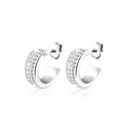 Elli Paar Creolen Creolen Swarovski® Kristalle 925 Silber