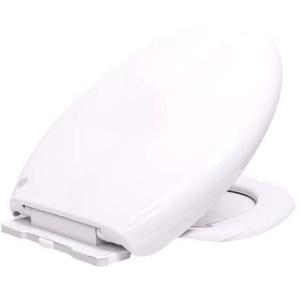 WC-Sitz, Premium Toilettensitz mit Absenkautomatik und easyclean, Abnehmbar Antibakteriell Klodeckel aus Duroplast, O Form Weiß Toilettendeckel Klodeckel Klobrille WC Deckel(Klassisch)