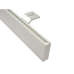 Gardinenstangen eckig alu silber Deckenmontage (320 cm (2 x 160 cm))