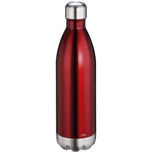 Cilio 543544 Elegante Isoliertrinkflasche, 18/10 Stahl, schwarz