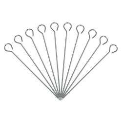 Metaltex Rouladennadeln, Rouladenspieße aus hochwertigem Inox-Edelstahl, 1 Packung = 10 Stück, 11 cm