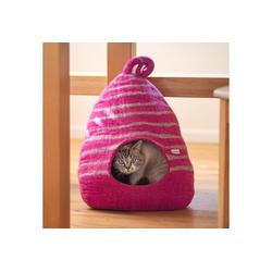 naturling Katzenliege Filz Katzenhöhle 100% Schurwolle handgemacht, Katzenhaus