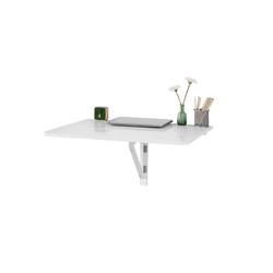 SoBuy Klapptisch FWT02, Küchentisch Wandklapptisch Esstisch 2X klappbar Schreibtisch Weiß 80x60cm weiß