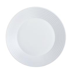 Arcoroc Suppenteller Stairo Uni, Teller tief 23.5cm 800ml Opalglas weiß 6 Stück Ø 23.5 cm x 3.2 cm