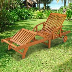 indoba Gartenliege Sun Shine, Sonnenliege - IND-70305-SL beige Gartenliegen Gartenmöbel Gartendeko