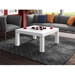 designimpex Couchtisch Design Couchtisch H-222 Weiß Hochglanz Highgloss Tisch weiß