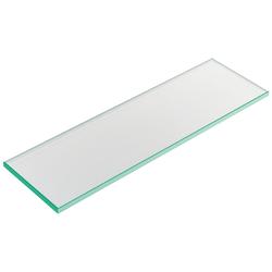 Glastablar 600 mm, ESG-Glas 10 mm, für Wandsystem Labos silber eloxiert