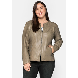 sheego by Joe Browns Lederjacke sheego by Joe Browns khaki