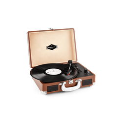 Auna Peggy Sue Retro-Plattenspieler LP USB braun Plattenspieler braun