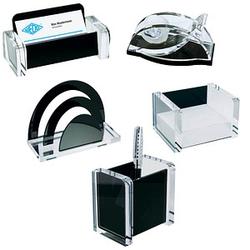 WEDO Schreibtischset Acryl Exklusiv glasklar/schwarz