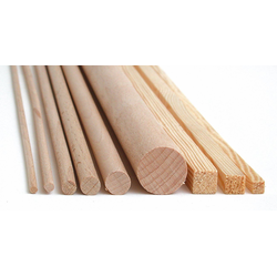 MEYCO Hobby Kantholz Holz-Vierkantleiste, 1 m x 10 mm x 10 mm