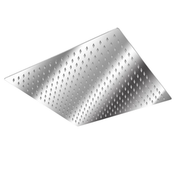 tectake Duschbrause Regendusche aus Edelstahl, eckig 40.0 cm x 4.5 cm x 40.0 cm