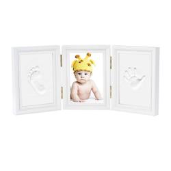 kueatily Neugeborenen-Geschenkset Baby Hand und Fuß Bilderrahmen - Baby Handabdruck und Baby Fußabdruck DIY Set Druck von Rahmen Geschenk (3 Stück, wei)
