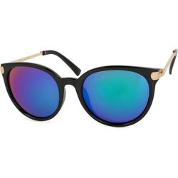 styleBREAKER Sonnenbrille Cat Eye Sonnenbrille Verspiegelt schwarz