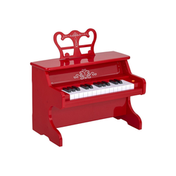 HOMCOM Spielzeug-Musikinstrument Kinderklavier elektrisch rot