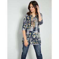 Shirt-Tunika Janet & Joyce Marineblau/Goldfarben