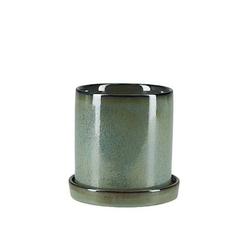Övriga varumärken Topf mit Untertopf Grün 14 cm