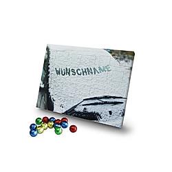 Personalisierter Schoko-Adventskalender (Typ: Auto im Schnee) - Kalender
