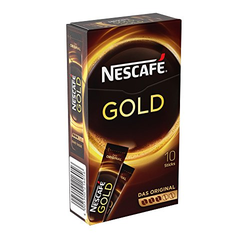 Nestlé Nescafe Gold löslicher Kaffee 10 Sticks 20 g