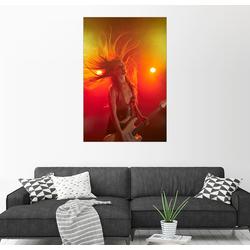 Posterlounge Wandbild, Rockmusikerin mit E-Gitarre 20 cm x 30 cm