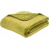 GÖZZE Wohndecke Josefine, mit premium Cashmere Feeling grün 130 cm x 170 cm
